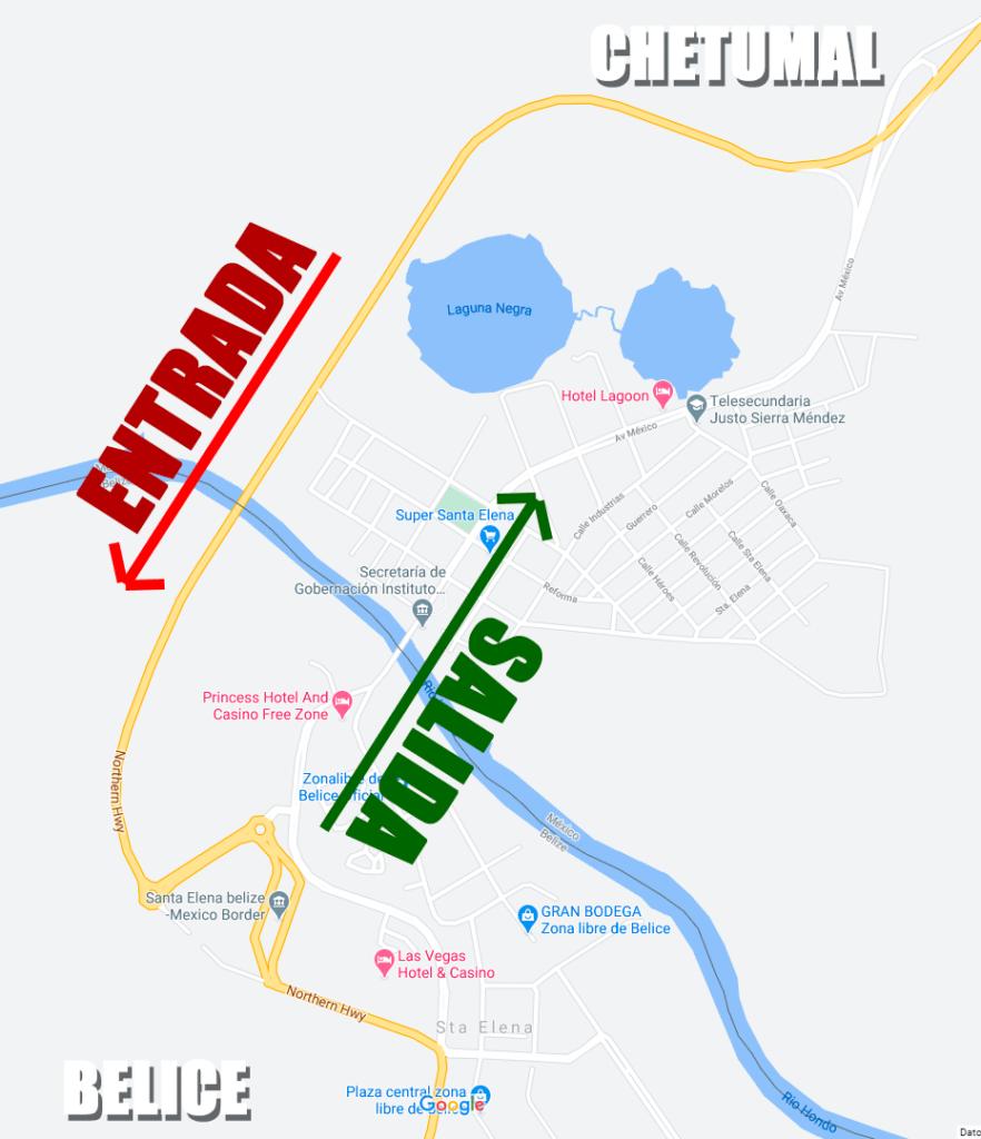 Entrada y salida de la zona libre de Belice 2021 Importante